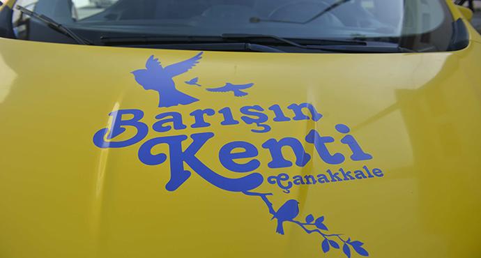 """""""Barışın Kenti Çanakkale'nin Taksileri"""" Kentlilerin Hizmetinde…"""