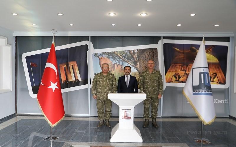 1. Ordu Komutanı Korgeneral Kemal Yeni, Vali AKTAŞ'ı Ziyaret Etti