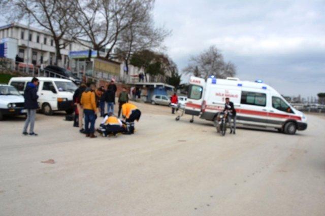 Biga'da İki Motosiklet Kafa Kafaya Girdi