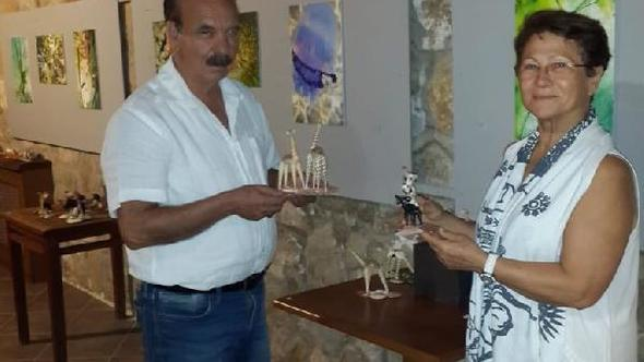 Bozcaada'da, 'Deniz Kabuklarından Figürler ve Su Altı Fotoğraf' Sergisi Açıldı