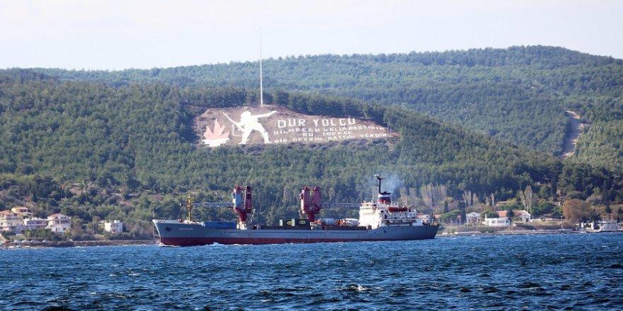 Çanakkale Boğazı'ndan Rus Askeri Kargo Gemisi Geçti