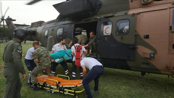 Askeri Helikopter Fenalaşan Hasta İçin Havalandı
