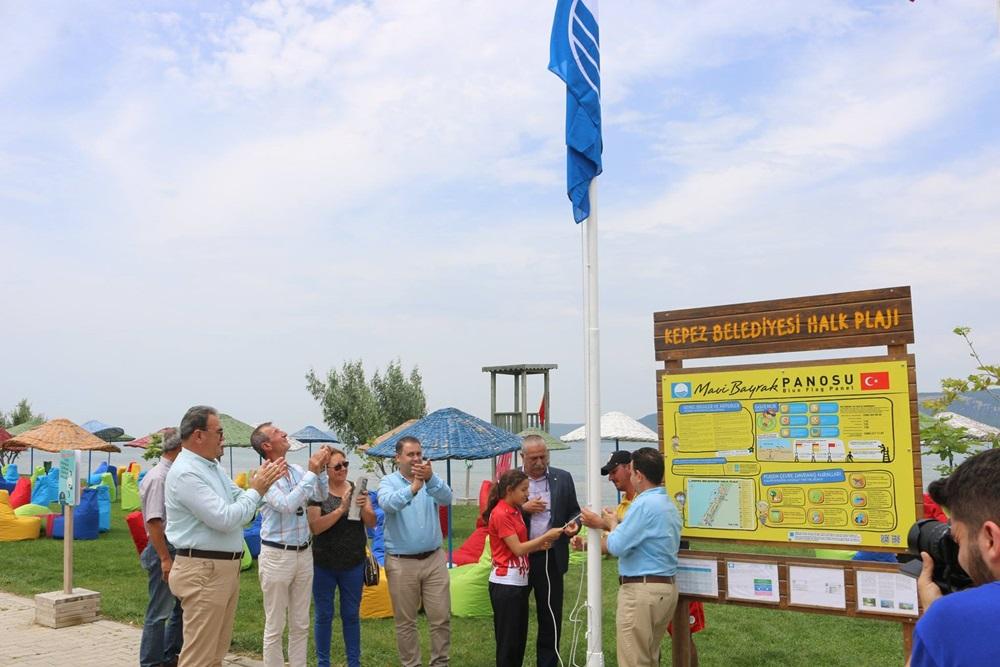 Kepez Belediyesi Halk Plajına Mavi Bayrak