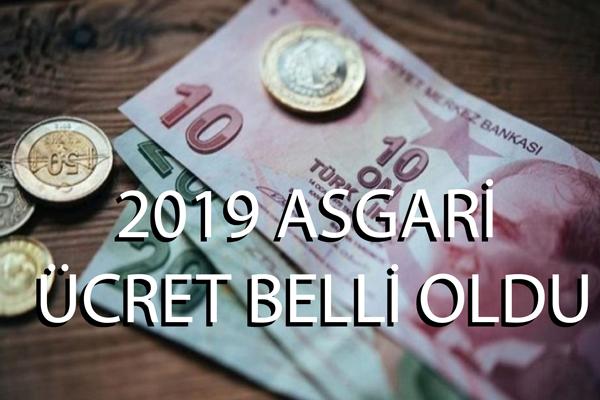 2019 Asgari Ücret Belli Oldu