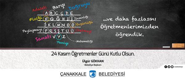 Ülgür Gökhan'ın 24 Kasım Öğretmenler Günü Mesajı