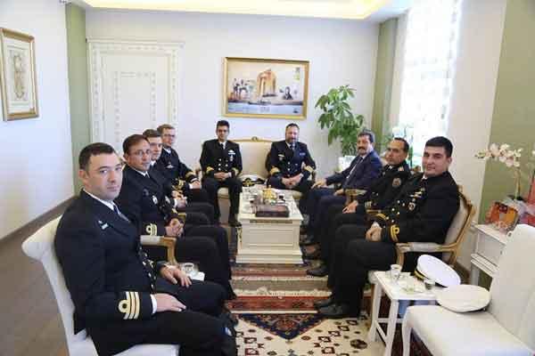 NATO Daimi Mayın Karşı Tedbirleri Görev Grubundan Valiliğe Ziyaret
