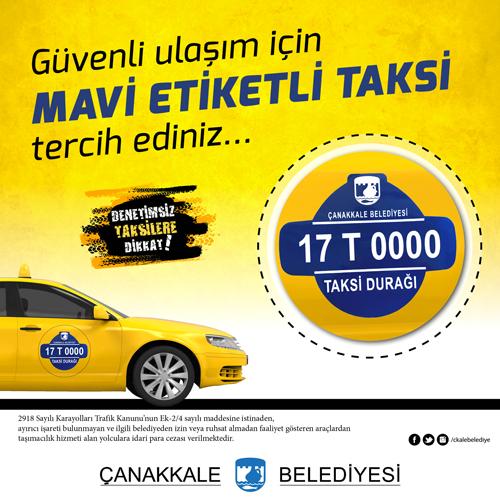 Taksiler Artık Mavi Etiketli