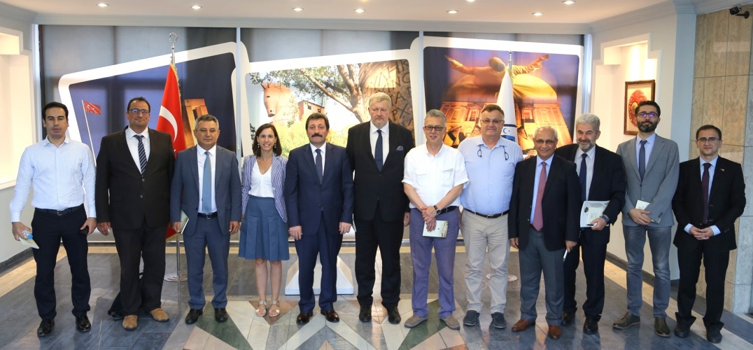 Avrupa Birliği Türkiye Delegasyonu Heyeti ÇOMÜ'deydi