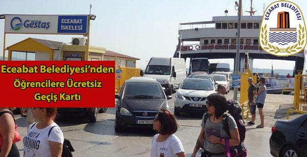 Eceabat Belediyesi Öğrencilerin Yanında