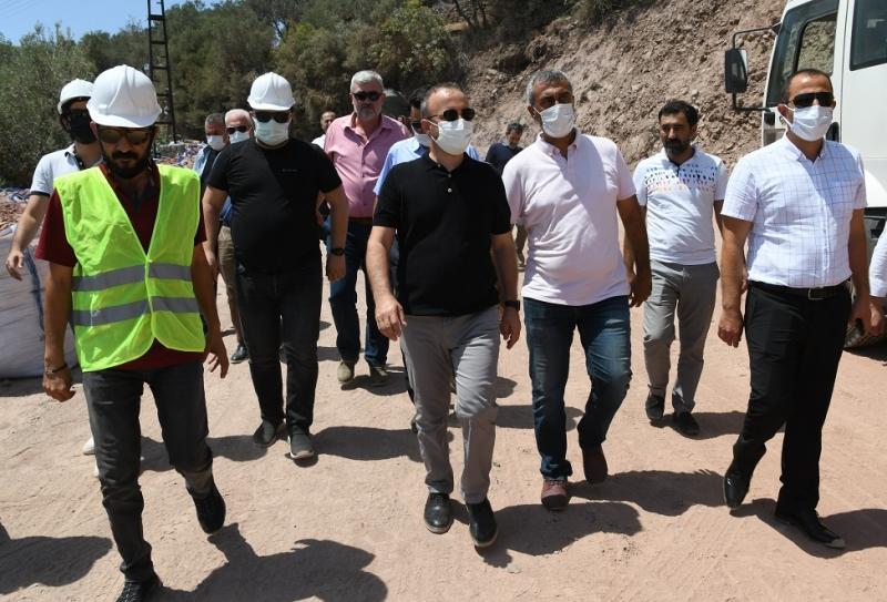 AK Parti'li Turan Assos'ta devam kaya ıslahı çalışmalarını inceledi