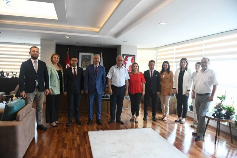 Baro Başkanı Aydın ve Yönetiminden Başkan Gökhan'a Ziyaret