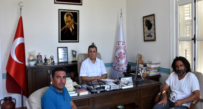 Başkan Aslan'dan İl Müdürü Kemal Dokuz'a nezaket ziyareti