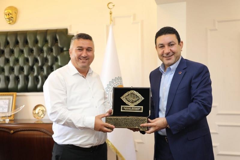 Başkan Bayram'dan Harran Belediyesi'ne ziyaret