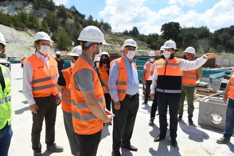Başkan Gökhan Mekanik ve Biyolojik Arıtma Tesisini Ziyaret Etti