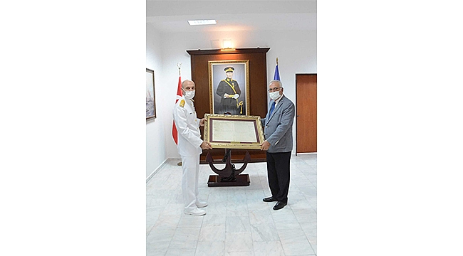 Başkan Gökhan'dan Tuğamiral Ecevit'e Ziyaret
