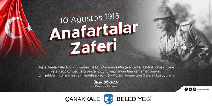 Başkan Gökhan'ın 10 Ağustos 1915 Anafartalar Zaferi Mesajı