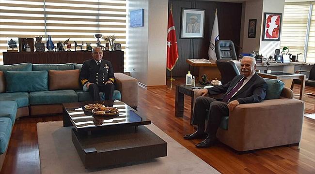 Boğaz ve Garnizon Komutanı Okyay'dan Başkan Gökhan'a Ziyaret