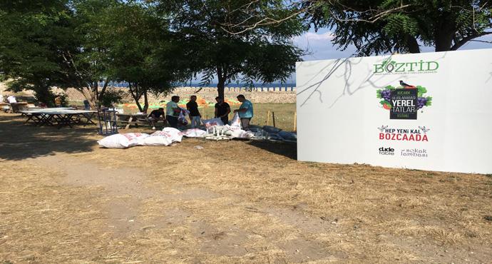 Bozcaadada hazırlıklar tam gaz devam ediyor