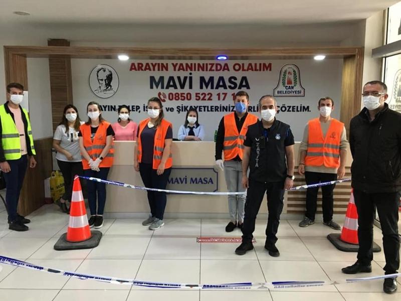 Çan Belediyesi Mavi Masa Birimi Bayramda da Vatandaşa Bir Telefon Kadar Yakındı