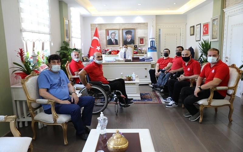 Çanakkale Boğazgücü Engelliler Gençlik Spor Kulübünden Vali AKTAŞ'a Ziyaret