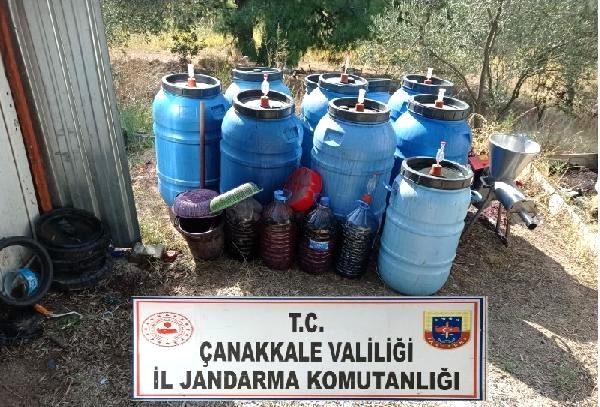 Çanakkale'de 1 Ton 730 Litre Sahte İçki Ele Geçirildi