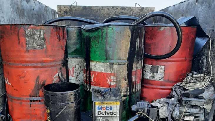 Çanakkale'de 2 Bin 520 Litre Atık Yağ Ele Geçirildi
