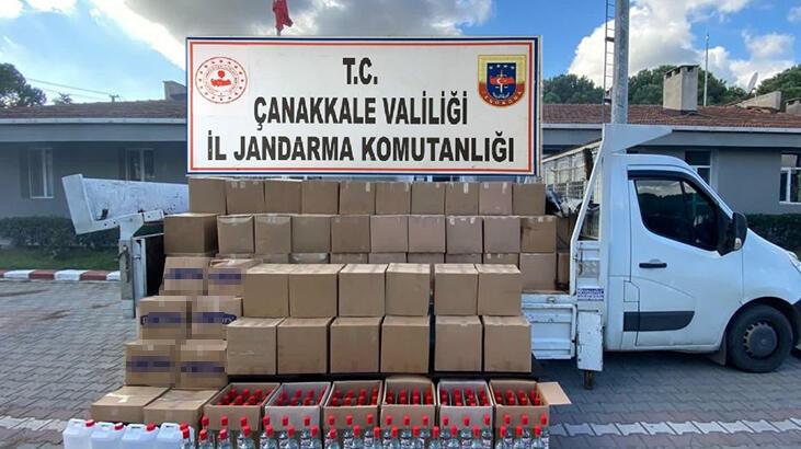 Çanakkale'de 2 Ton 620 Litre Etil Alkol Ele Geçirildi