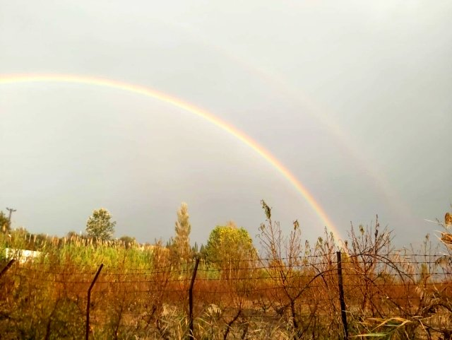 Çanakkale'de Çifte Gökkuşağı Oluştu, Görenler Cep Telefonuna Sarıldı