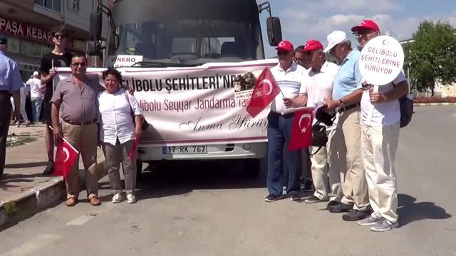 """Çanakkale'de """"Gelibolu Seyyar Jandarma Taburu"""" anıldı"""