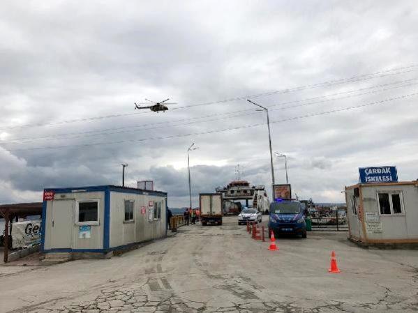 Çanakkale'de, Helikopterle Havadan Trafik Denetimi