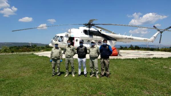 Çanakkale'de Yangın Helikopteri Göreve Başladı