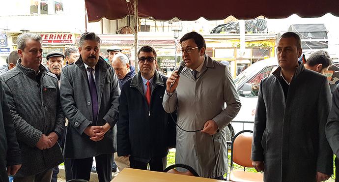 CHP'Lİ MUHARREM ERKEK BAYRAMİÇ'TE