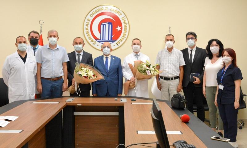 ÇOMÜ Hastanesinde Devir Teslim Töreni Gerçekleşti