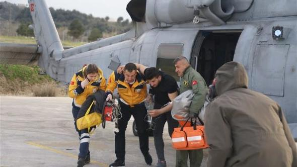 Deniz Kuvvetleri'nin helikopteri, Emre için havalandı
