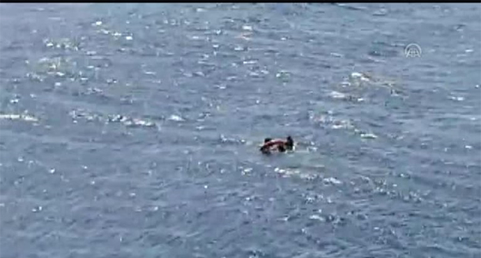 Denizde sürüklenen dalgıç feribottan atılan can simidiyle kurtarıldı