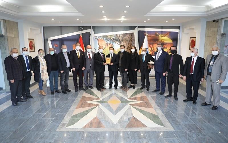 Gazeteci Federasyon Yöneticilerinden Vali AKTAŞ'a Ziyaret