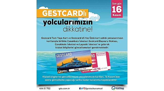 Gestcard Kullanıcılarının Dikkatine!
