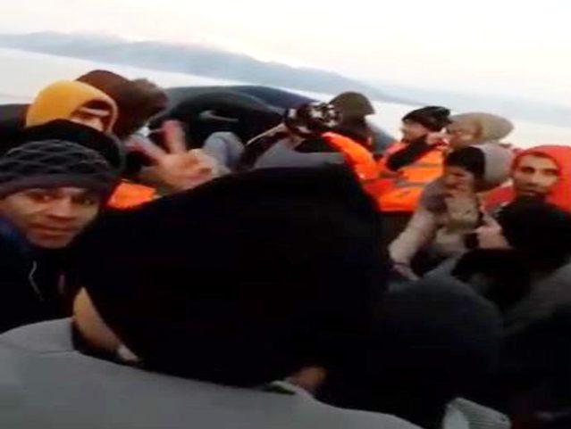 Göçmenlerin Kuzey Ege'deki Umuda Yolculukları Amatör Kamera Tarafından Görüntülendi