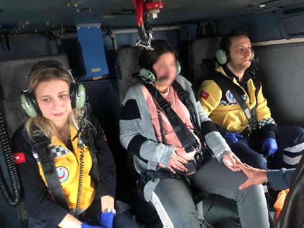 Hamile Kadına Askeri Helikopterle Sevk