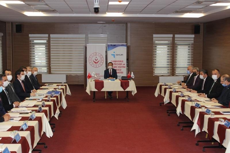 İl İstihdam ve Mesleki Eğitim Kurulu, 2021 Yılı İlk Toplantısını Bayramiç'te Düzenledi