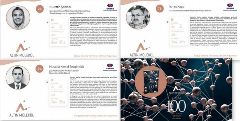 Kimya Bilimine Yön Veren 100 Türk Bilim İnsanından Üçü ÇOMÜ'lü