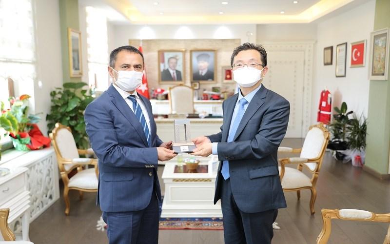 Kore Cumhuriyeti İstanbul Başkonsolosu Sung Kyu Woo, Vali AKTAŞ'ı Ziyaret Etti