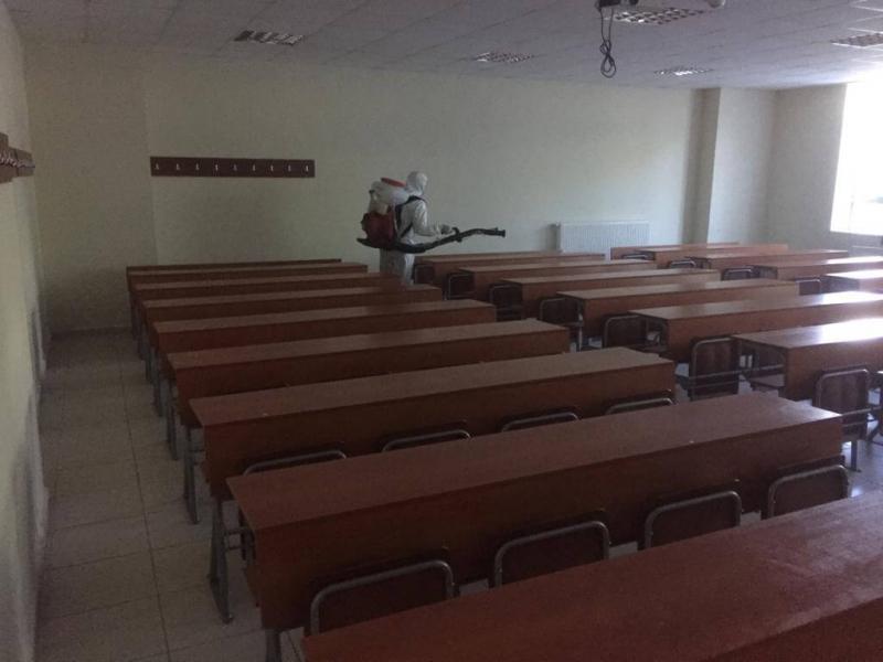 LGS Öncesinde Tüm Sınav Alanları Dezenfekte Edildi