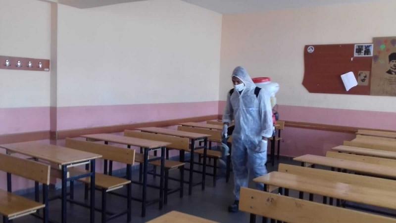 MSÜ Sınavı Öncesinde Okullarda Kapsamlı Temizlik ve Dezenfeksiyon Çalışması Gerçekleştirildi