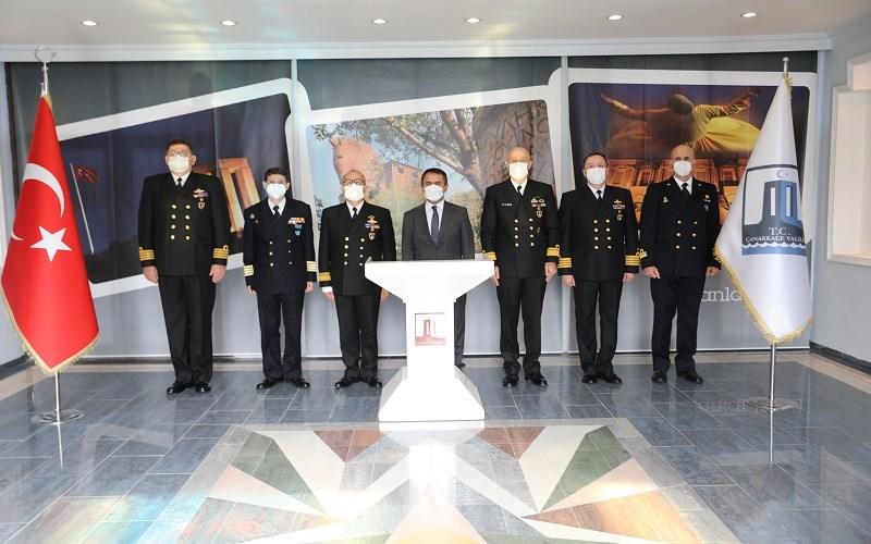 Nusret-21 Tatbikatı Münasebetiyle Vali İlhami AKTAŞ'a Ziyaret