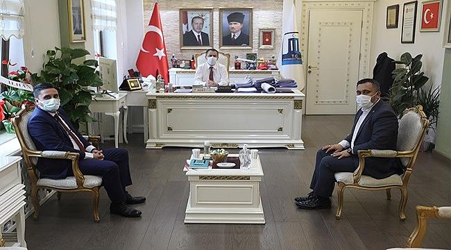 Sendika Başkanlarından Vali Aktaş'a Ziyaret