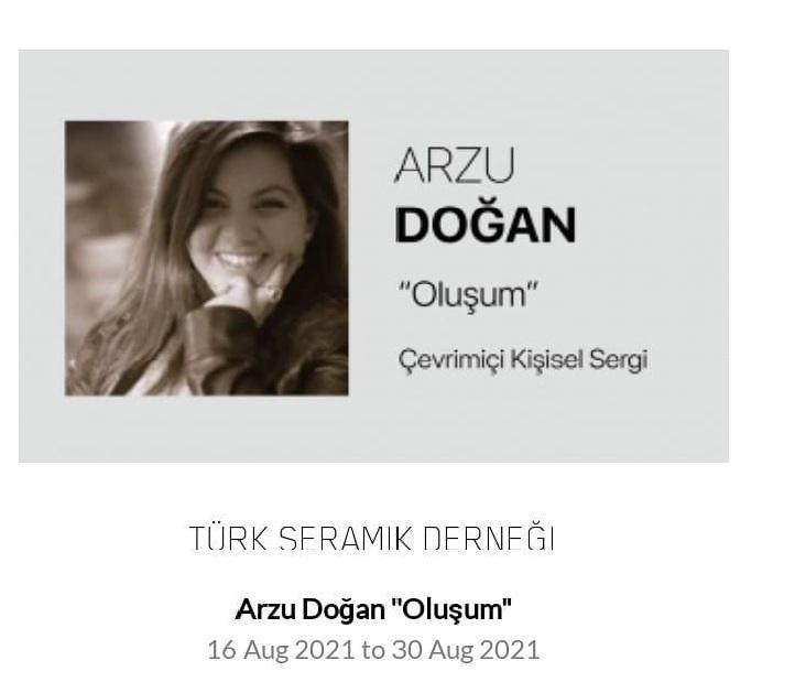 Seramik sanatçısı Arzu Doğan'ın kişisel sergisi açıldı
