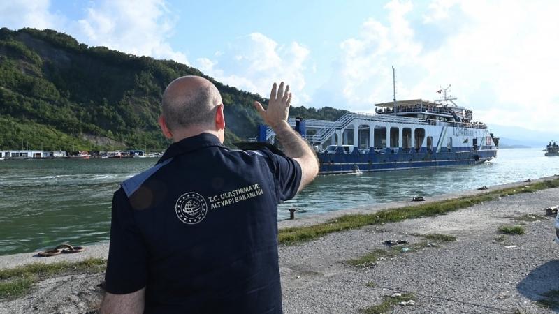 Sinop Türkeli'nden gemiyle ilk tahliye gerçekleşti