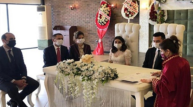Vali Aktaş, Bozcaada Kaymakamı Bahar Kaya'nın Nikah Şahidi Oldu