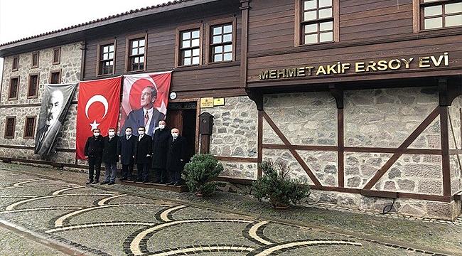 Vali Aktaş, Milli Şairimiz Mehmet Akif Ersoy Müze Evini Ziyaret Etti